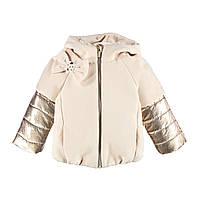 Пальто из ткани с капюшоном Mek  (р. 104-110)  193MEAA002-307 бежевое, фото 1
