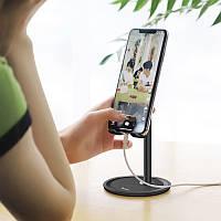 Настольная подставка держатель металлический для телефона планшета Hoco PH15 Aluminum alloy table stand черный