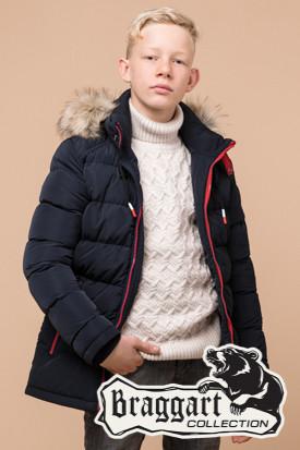 Зимняя теплая куртка на мальчика Braggart Kids (р. 34, 36, 38) арт. 68255T