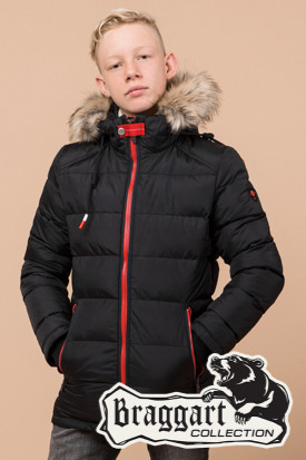 Детская зимняя куртка на мальчика Braggart Kids (р. 34, 36, 38) арт. 68255A