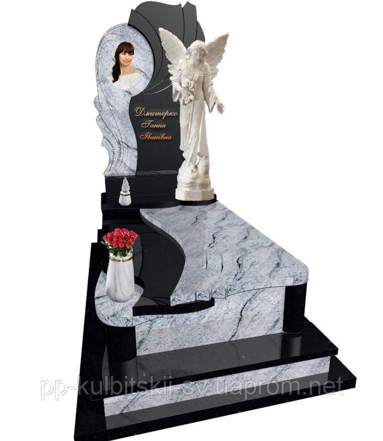 Пам'ятник гранітний одинарний Ангел Е8003