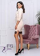 / Размер 42,44,46,48 / Женское трикотажное платье с карманами Милена / цвет беж, фото 2