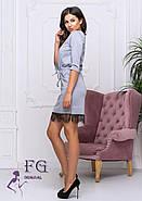 / Размер 42,44,46,48 / Женское трикотажное платье с карманами Милена / цвет серый, фото 2