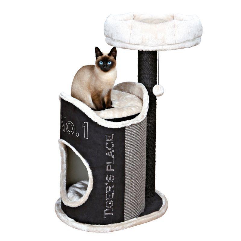Игровой комплекс для котов Relax S с домиком для кошки и когтеточкой