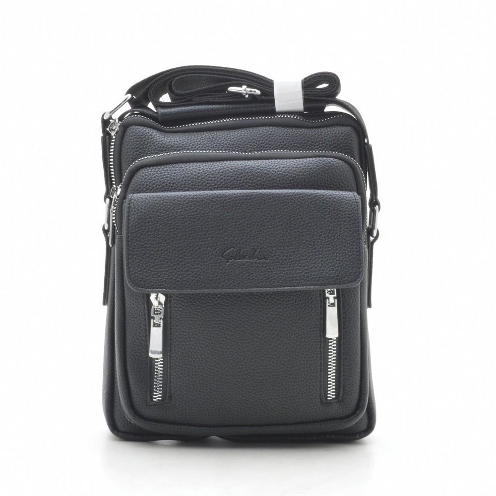 Мужская сумка черная через плечо 186398
