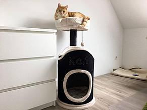Игровой комплекс для котов Relax S с домиком для кошки и когтеточкой, фото 2