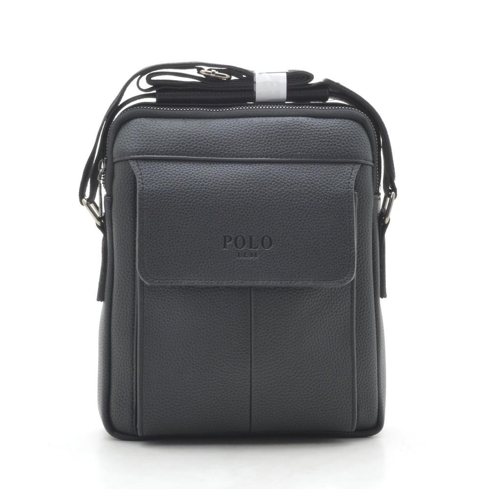 Мужская сумка Polo черная через плечо 186400