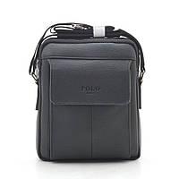 Мужская сумка Polo черная через плечо 186400, фото 1