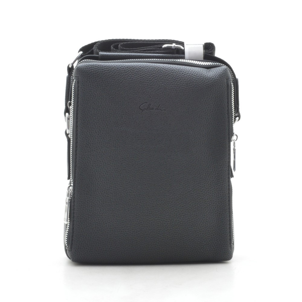 Мужская сумка черная через плечо 186401