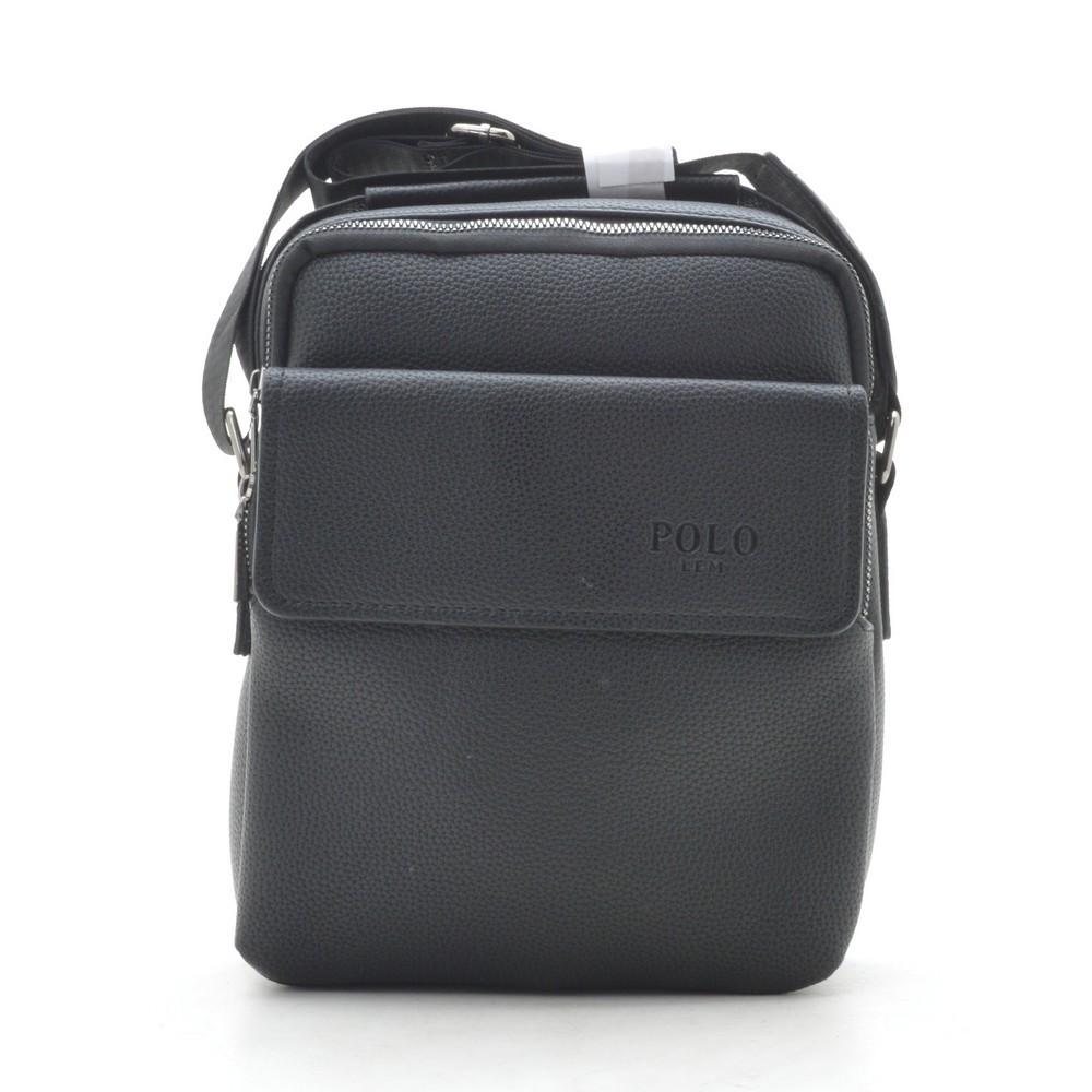 Мужская сумка Polo черная через плечо 186402