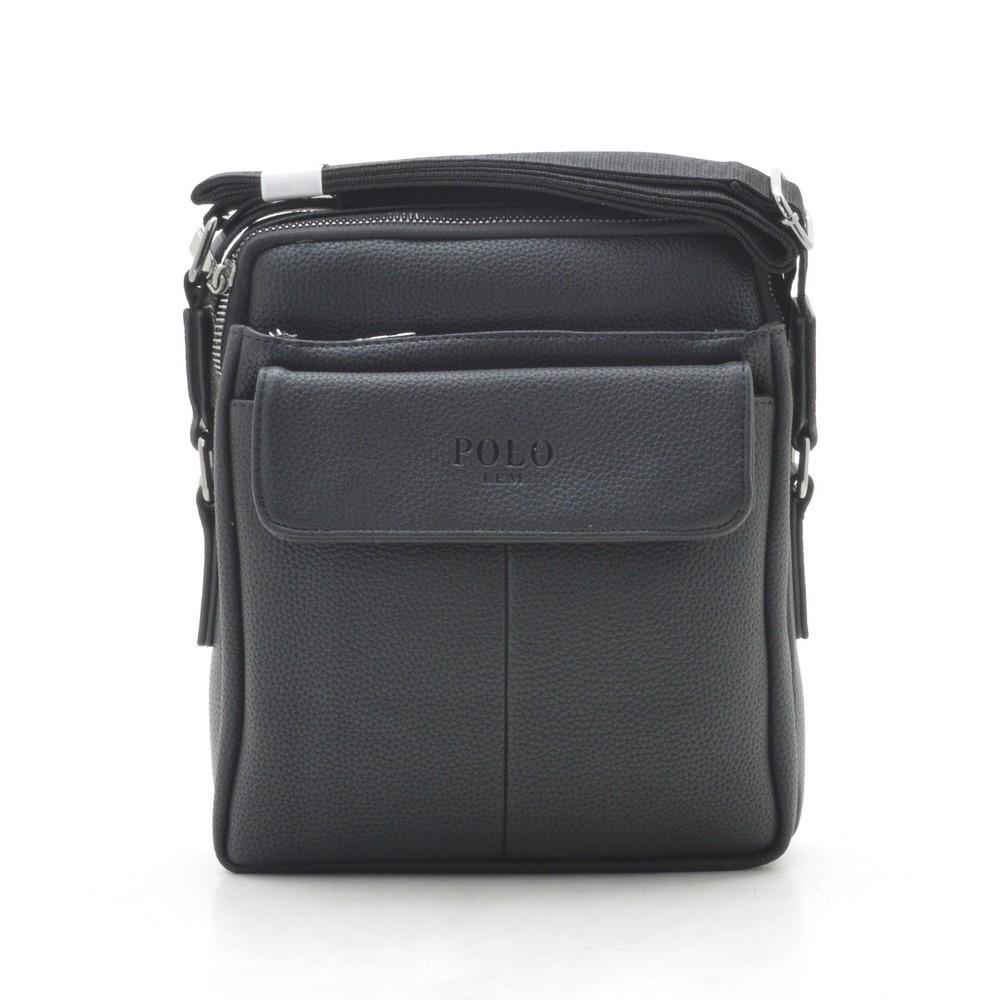 Мужская сумка Polo черная через плечо 186405