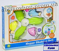 Детская карусель мобиль на кроватку, подвески 3шт, музыка, на батарейке, в коробке. (D132)