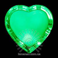 Ночник Lemanso Сердце зелёный 3 LED / NL4