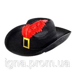 """Шляпа маскарадная """"Маркиз"""" B00338 (100шт)"""