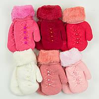 Оптом детские варежки с меховой подкладкой на 3-5 лет - 19-7-64, фото 1