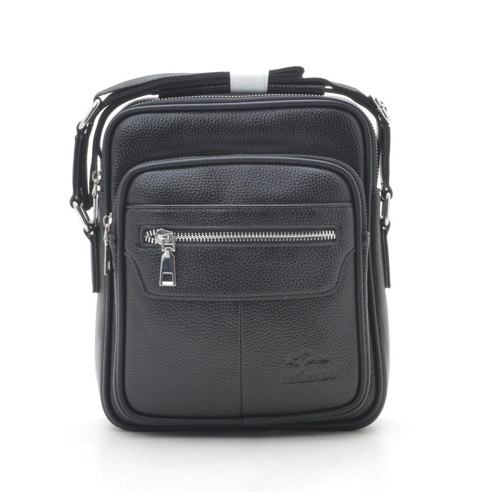 Мужская сумка через плечо черная 186389