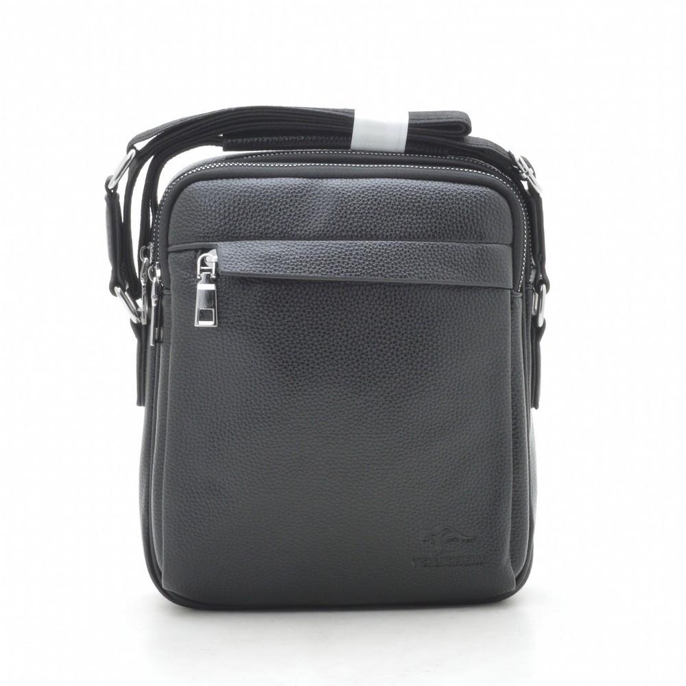 Мужская сумка через плечо черная 186392