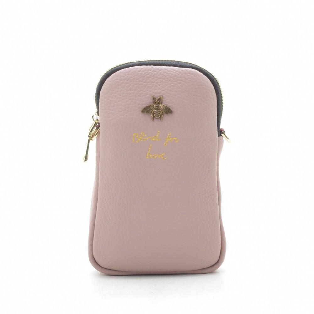 Женский клатч маленький розовый 190583
