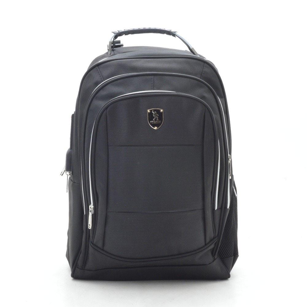 Рюкзак городской черный с отделением для ноутбука и USB 188779