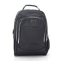 Рюкзак городской черный с отделением для ноутбука и USB 188781