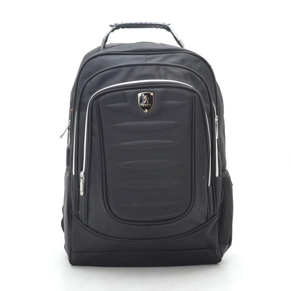 Рюкзак городской черный с отделением для ноутбука и USB 188788
