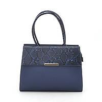 Женская сумка синяя со змеиной вставкой 187299, фото 1
