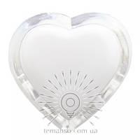 Ночник Lemanso Сердце голубой 3 LED / NL4