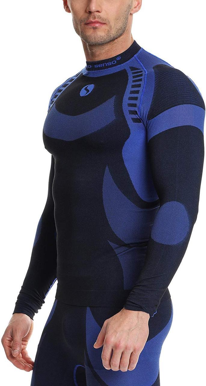 Термокофта мужская спортивная Sesto Senso Active (original) зональная бесшовная, лонгслив, термобелье