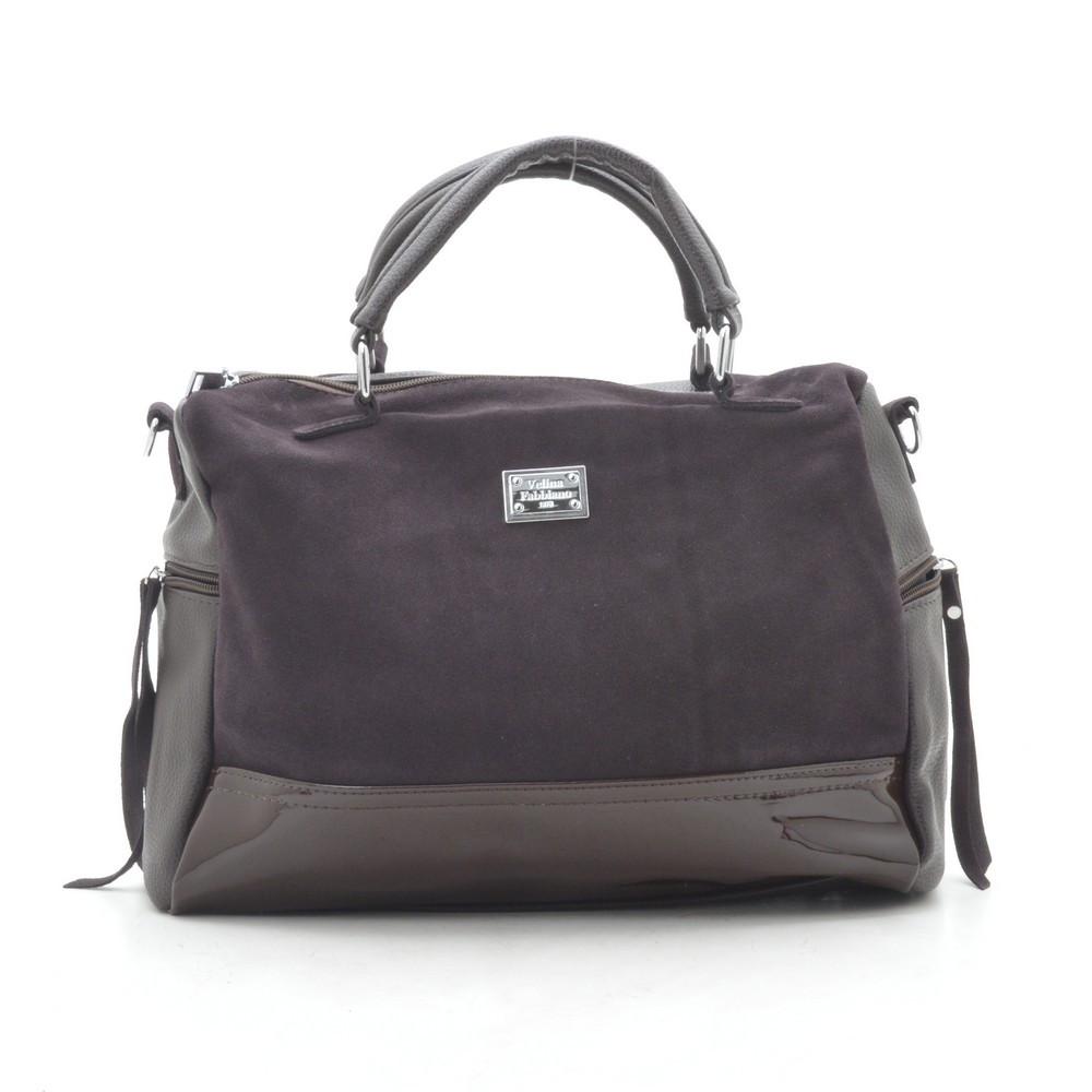 Женская сумка темно коричневая 188911