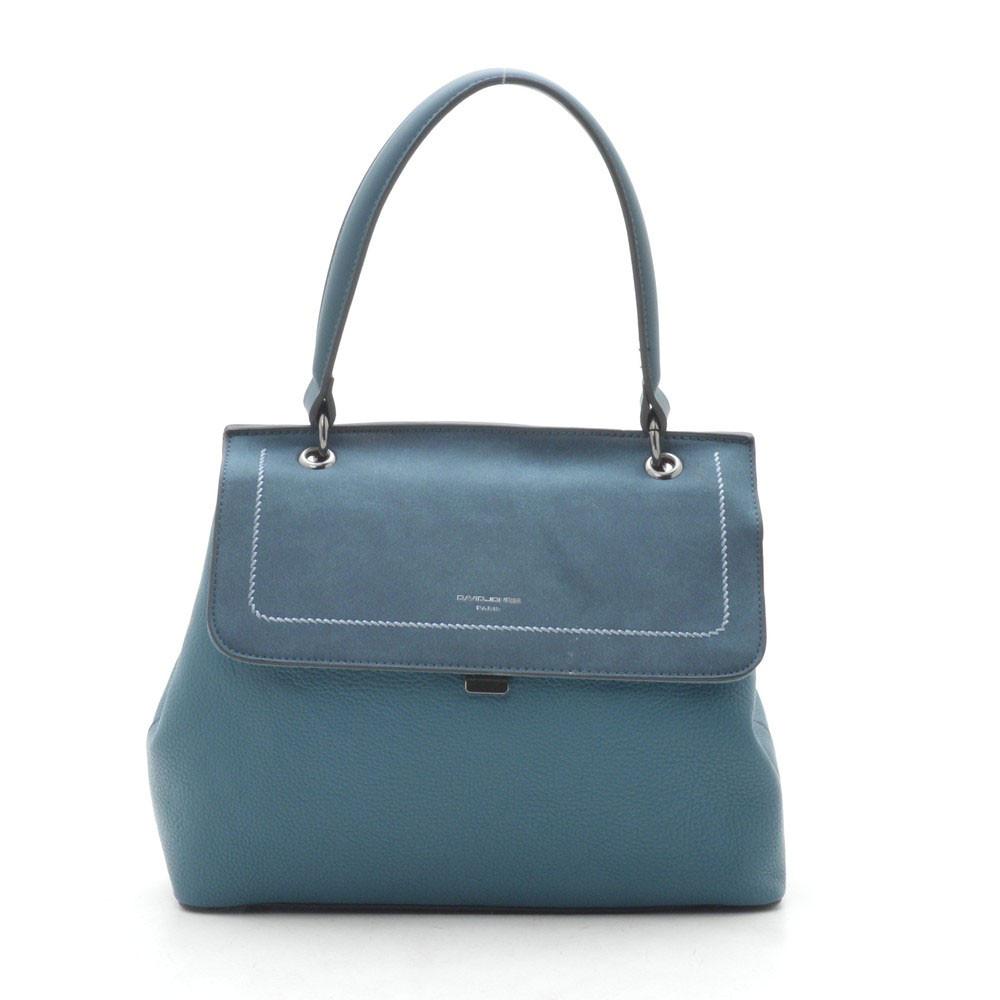 Женская сумка-клатч David Jones темно зеленая 189437