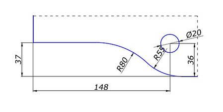 Петля нижняя 110D Black, фото 2