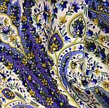 Изюминка 1811-1, павлопосадский платок шерстяной  с шелковой бахромой, фото 5