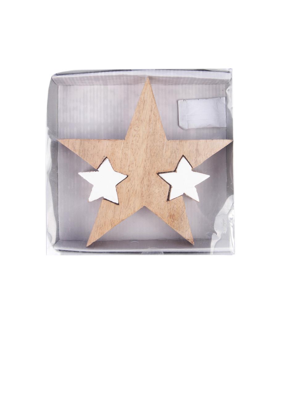 Декор Звезда дерево 3шт