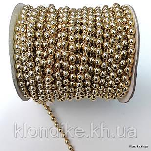 Полубусины на бобине, 6 мм, Цвет: Золото
