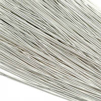 Канитель гладкая мягкая 0,5 мм, серебро