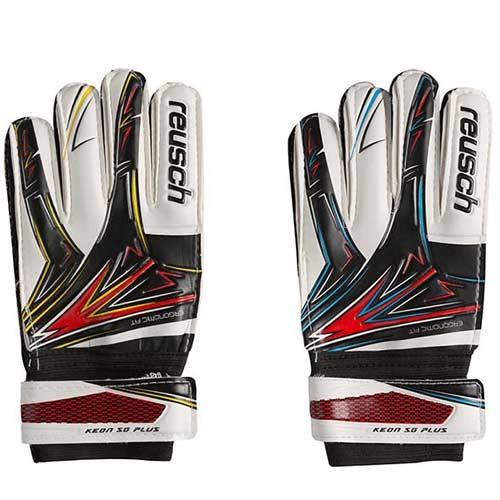 Воротарські рукавички Latex Foam REUSCH, розмір 8, червоний/жовтий, червоний/блакитний GG-LRH8