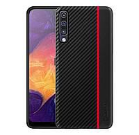Чехол накладка Primo Cenmaso для Samsung Galaxy A70 2019 ( SM-A705 ) - Black&Red, фото 1