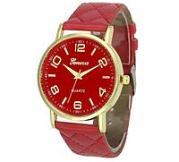 Красные наручные женские кварцевые часы Geneva
