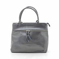 Женская сумка кожаная темно серая 185442