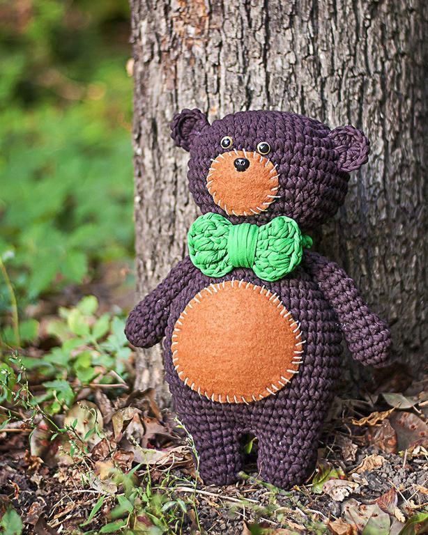 «Петрович» от @natasha.krosha по онлайн мастер классу по вязанию игрушки «Мишка»
