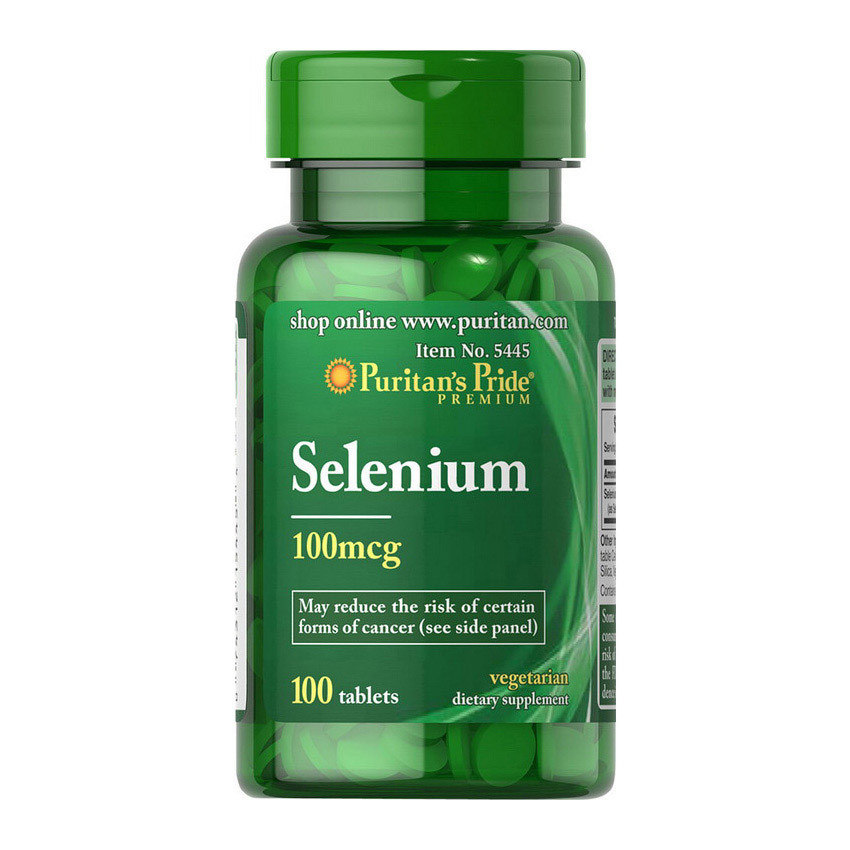Puritan's Pride Selenium 100 mcg, Селен (100 таб.)