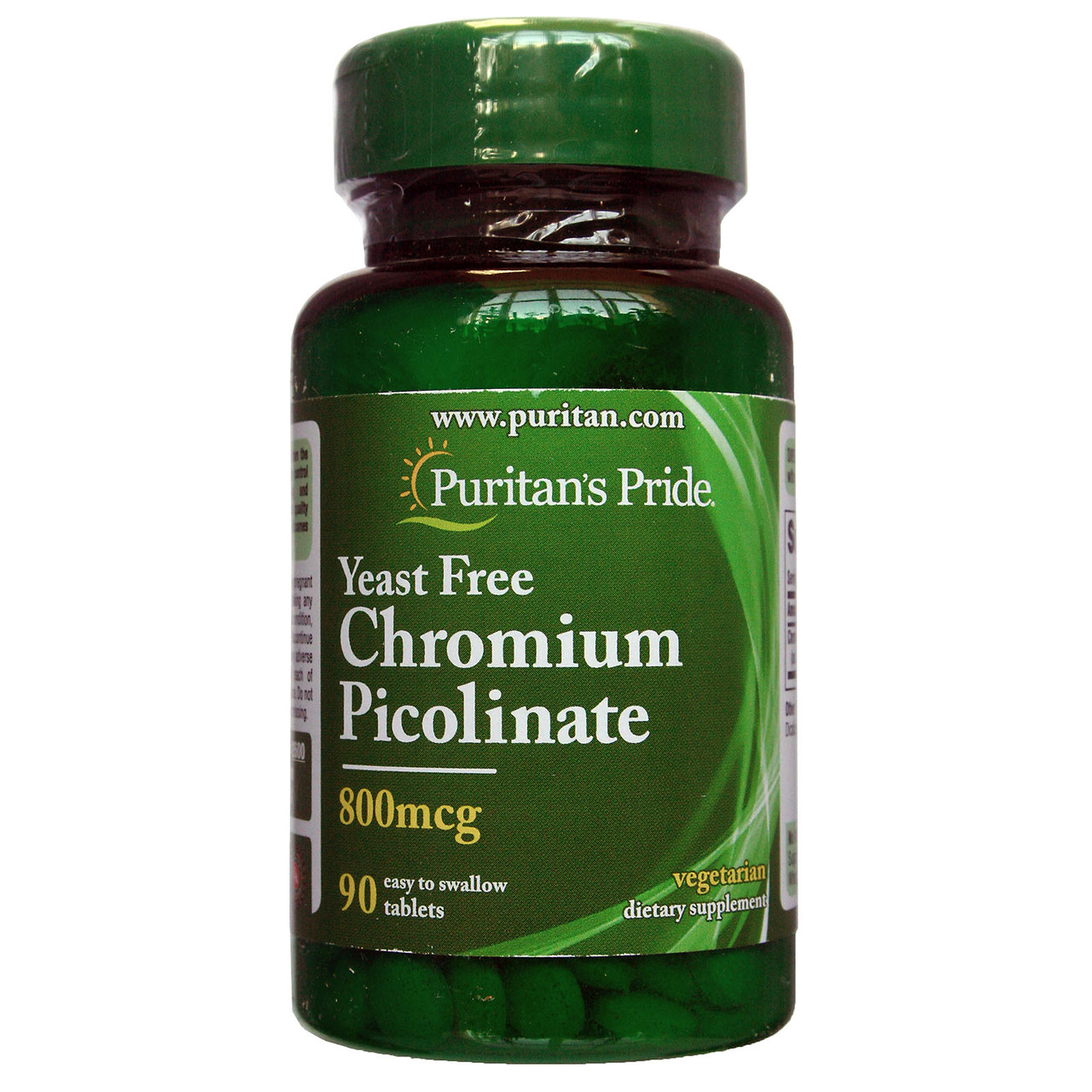 Пиколинат Хрома, Chromium Picolinate 800 mcg, Puritan's Pride, 90 таблеток
