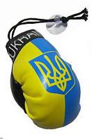 Подвеска в авто боксерские перчатки с символикой Украины, прапор Украины, фото 1