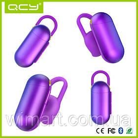 Бездротова міні гарнітура QCY Q12 bluetooth Фіолетовий