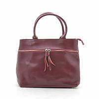 Женская сумка кожаная темно красная 185443