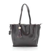 Женская сумка кожаная кофейная 185448