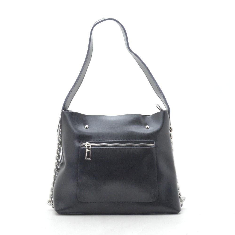 Женская сумка кожаная черная 185743