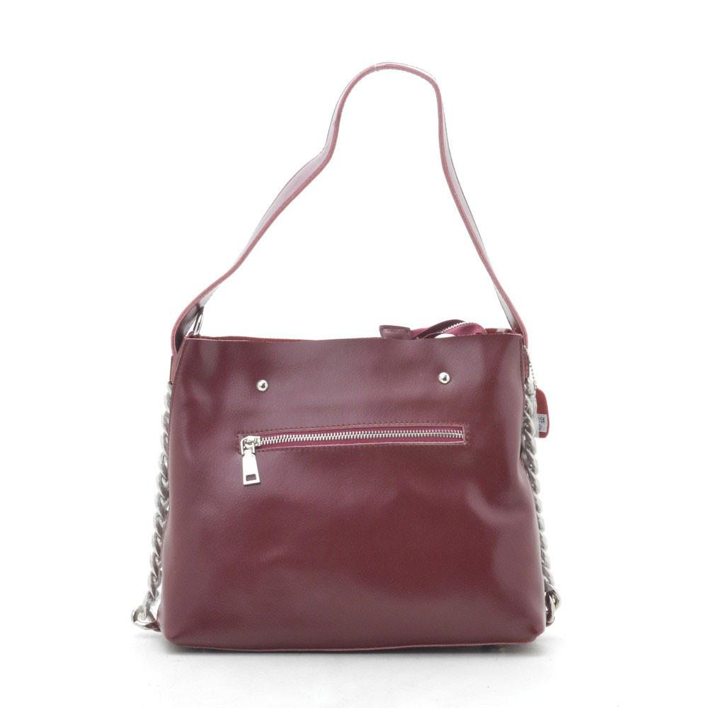 Жіноча сумка шкіряна червона 185745