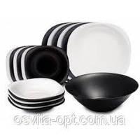 Luminarc Carine Black & White Сервиз столовый 19пр 1491