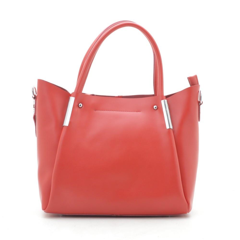 Женская сумка кожаная красная 188142